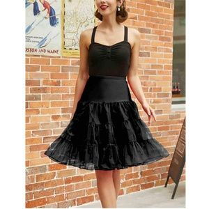 2 Pack- Black and White Petticoat Underskirts